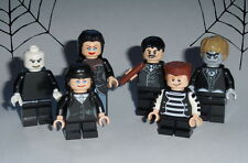 "MOVIE Lego The Addams Family ""Gomez,Morticia,Pugsley,Wednesday"" 6figs Custom #11"