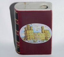 Vtg British Airways Drambuie miniature flask book Castles of Britain liqueur UK
