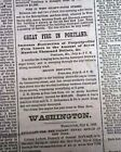 Great FIRE OF PORTLAND ME Cumberland Maine 4th of July Disaster 1866 Newspaper