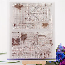 Antique background transparent silicone clear rubber stamp cling diary decor  NB