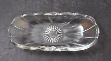 """Vintage Imperial Glass Old Williamsburg Clear Discontinued Relish 8 1/4"""" GD31"""