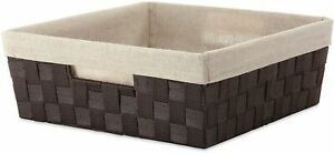 Whitmor Woven Strap Liner Shelf Tote One Size