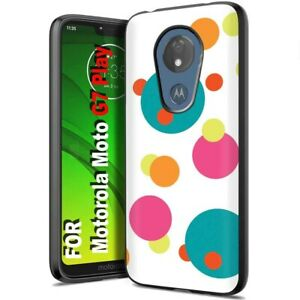 Thin Protective Gel Phone Case for Motorola G7 Play or Power,Polka Dots Print