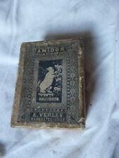 Ancienne-Boite-Publicitaire-Carton-Amidon- E VERLEY LILLE à l'ours blanc