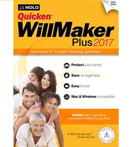 Quicken WillMaker Plus 2017 Estate Planning Software - Mac/Windows - Retail Box