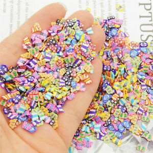 1000PCS Assorted Polymer Clay Cane Slices for Charms Phones Nail Arts Slime