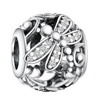 Butterfly crystals 925 silver charm bead for UK European sterling bracelet chain