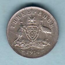 New listing Australia . 1914 Threepence. Trace Lustre. Vf/Vf+