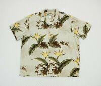 Vtg Paradise Found Mens Floral Hawaiian Camp Short Sleeve Shirt Size XL