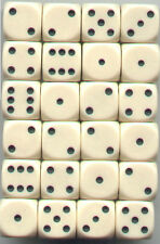 NEW Dice Set of 24 D6 -14 mm Opaque Ivory