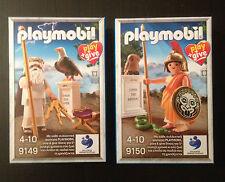 Playmobil 9149 9150 Greek Gods Zeus & Athena Greece Exclusive New Sealed Box