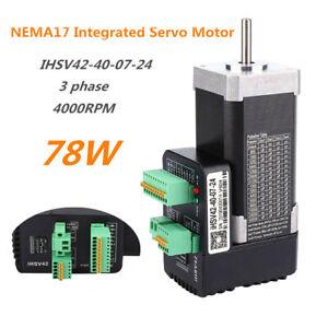78W IHSV42-40-07-24 NEMA17 Integrated Micro Servo Motor with 1000 Lines Encoder