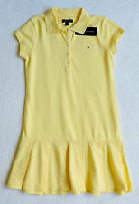 NWT Tommy Hilfiger Girl's Short Sleeve Solid Polo Dresses Size: XL(16)