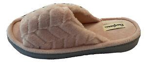 NWT Dearfoams DF Adapt Memory Foam Cozy Pink Slide Slipper Sz Women's L (9-10)