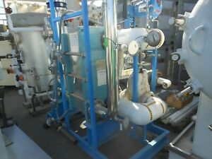 Hot Set with Alfa Laval 151 Sq Ft Stainless Steel Plate Heat Exchanger, M10-MFG