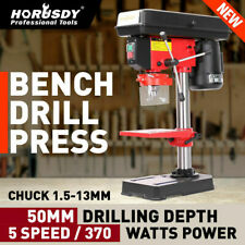370W Bench Drill Press 5-Speed Workshop Metal Drilling Operation Table Stand