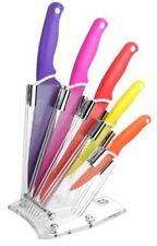 Set di 5 coltelli antiaderenti colorati con ceppo in Plexiglass Solingen Qualità