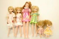 Takara Licca chan doll Vintage Dress up doll Lot of 6 From Japan A0016