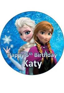 7.5 INCH 19 CM DISNEY FROZEN #2 PERSONALISED EDIBLE ICING SHEET CAKE TOPPER