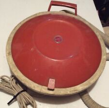 VINTAGE HOOVER CELEBRITY VACCUM FLYING SAUCER RED ATOMIC SPACE AGE MODEL S3165