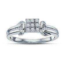 Round Cut D/vvs1 Diamond Engagement Ring 14k White Gold Over