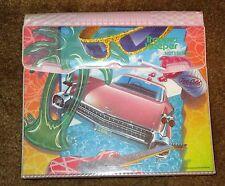VTG 1989 DESIGNER TRAPPER KEEPER NOTEBOOK MEAD PINK CADILLAC GUITAR 1980s VGC