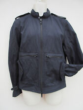 "Reiss - ""Watson"" Mens Black Casual Hooded Zip Up Canvas Jacket - size S"