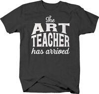 The art teacher has arrived cursive school funny T-shirt