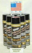 6 Aerosol Cans Zenex Premium Rubberized Professional Black Undercoating Sealent
