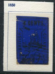 BRITISH GUIANA (25173): Fournier forgery of 1850 4c black/blue