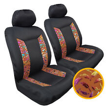 New Black Mesh w/t Bronzing Suede 2pcs Car Seat Covers For Ford Ranger
