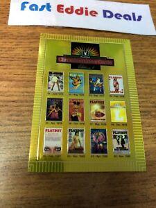 1995 PLAYBOY MAGAZINE CHROMIUM COVER CARDS CHECKLIST 3 CARD 75 EXCELLENT