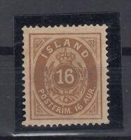 E3074/ ICELAND – MI # 9A MINT MH – CV 135 $