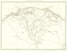 EGYPT. NILE DELTA. Basse Egypte. Kaire Cairo Alexandrie 1859 old antique map