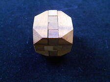 Diamond Cube brain teaser Wood puzzle sz small wooden