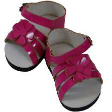 "COLLECTIBLE DOLL SHOES FOR 18"" Madame Alexander- Pink Strappy Sandal"