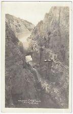 1915 Shoshone Canyon, Wyoming - Real Photo Dam & Cable across Canyon