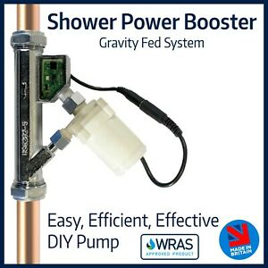 Shower Power Booster Pump | Boost Gravity Fed System | Protected Flow Solution