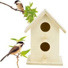 Bird House Nest Box Wooden Bird Box Wood Birdhouse Garden Hanging Home Decor