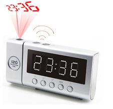 Soundmaster FUR6100SI Funkuhrenradio mit Projektion Silber