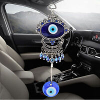 Turkish Oval Blue Evil Eye Amulet Wall Hanging Car Decor Blessing Protector Gift