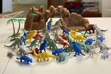 53 Piece Dinosaur Figures Set With Caveman And Rocks