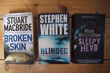 3 Books Mark Billingham Sleepy Head S Macbride Broken Skin Stephen White Blinded