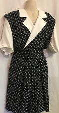 RJ Stevens Short Sleeve Romper Size 14 Black Rayon Dress Shorts LHM