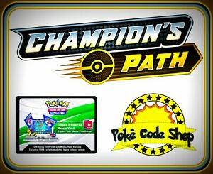 CHAMPION'S PATH - SWORD AND SHIELD CODES ~ Pokemon Online Booster Code TCGO FAST