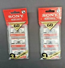 Lot of 6 Sony MC60 Micro Cassette Tapes Brand New