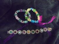 Nice Set of 3 assorted colors and style Fashion Jewlery Bracelet  (2)