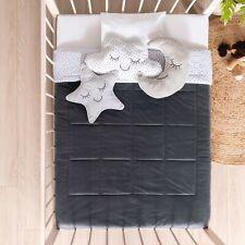 Moon Stars Crib Baby Boys Bedding Nursery ~4Pc~ Baby Shower Gift Black Comforter