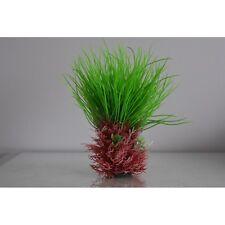 Aquarium Red and Green Grass Spike Plastic Plants 18 x 6 x 21 cms