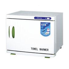 2 in 1 Hot UV Sterilizer Towel Warmer Cabinet Spa Beauty Salon Equipment 23L
